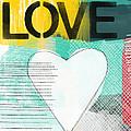 Love Graffiti Style- Print Or Greeting Card by Linda Woods
