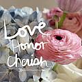 Love Honor Cherish by Linda Woods