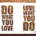 Love In Life Acrylic Palette Knife Painting by Georgeta  Blanaru