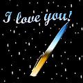 Love Message Digital Painting by Georgeta Blanaru