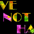 Love Not Hate Crazy Daisies Black by Andee Design