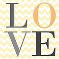 Love On Chevron Peach by Voros Edit