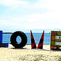 Love On The Beach Found Art Outer Banks by Katy Hawk