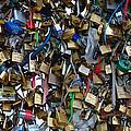 Love Padlocks On Pont Des Art by Dany Lison