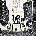Love Park In Black And White by Marita McVeigh