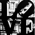 Love Philadelphia Black And White  by Terry DeLuco