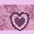 Love Series Collage - Heart 2 by Ellen Miffitt