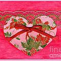 Love Series Collage - Heart 8 by Ellen Miffitt