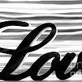 Love Sign With Black And White Stripes by Simon Bratt Photography LRPS