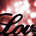 Love Sign With Red Sparkle by Simon Bratt Photography LRPS