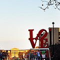 Love Statue And The Art Museum by Bill Cannon