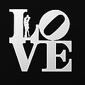 Love Typography And Kissing Couple by World Art Prints And Designs