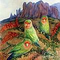Lovebirds by Marilyn Smith