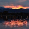 Loveland City Sunset by Rae Ann  M Garrett