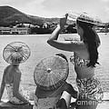 Lovely Ladies In Cha Cha Hats by Fritz Henle