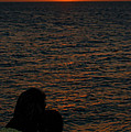 Lovers At Sunset In Key West Florida by Susanne Van Hulst