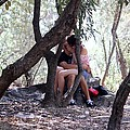 Lovers In Athens by Janice Aponte