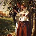 Lovers Under A Blossom Tree by John Callcott Horsley