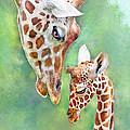 Loving Mother Giraffe2 by Jane Schnetlage