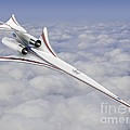 Low-boom Supersonic Aircraft, Artwork by Nasa