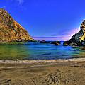 Low Tide At Big Sur by John Absher