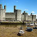 Low Tide At Caernarfon by Jane Rix