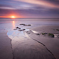 Low Tide At Glyne Gap by Mark Leader