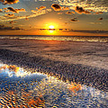 Low Tide Sunrise On Jekyll Island by Greg and Chrystal Mimbs