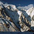 Lower Gasherbrum Peaks Showing Glacial by Colin Monteath