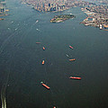 Lower Manhattan And New York Bay by Greg Reed