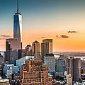 Lower Manhattan At Sunset by Mihai Andritoiu