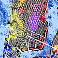 Lower Manhattan Map by Stephen Younts