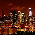 Lower Manhattan Night Skyline by Greg Norrell