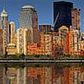 Lower Manhattan Skyline by Susan Candelario
