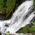 Lower Part Of Red Blanket Falls by Teri Schuster