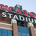Lucas Oil Stadium Sign by James Drake