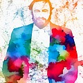 Luciano Pavarotti Paint Splatter by Dan Sproul