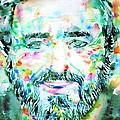 Luciano Pavarotti - Watercolor Portrait by Fabrizio Cassetta