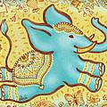 Lucky Elephant Turquoise by Judith Grzimek