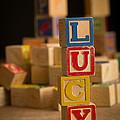 Lucy - Alphabet Blocks by Edward Fielding