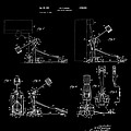 Ludwig Drum Pedal 4 Patent Art 1951 by Daniel Hagerman