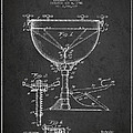 Ludwig Kettle Drum Drum Patent Drawing From 1941 - Dark by Aged Pixel