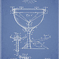 Ludwig Kettle Drum Drum Patent Drawing From 1941 - Light Blue by Aged Pixel