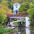 Ludwig Mill And Canal Boat  1480 by Jack Schultz