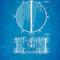 Ludwig Snare Drum Patent Art 1912 Blueprint by Ian Monk