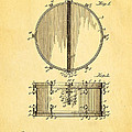 Ludwig Snare Drum Patent Art 1912 by Ian Monk