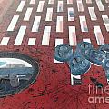 Lug Nuts On Grate And Circle H by Heather Kirk