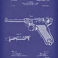 Luger Handgun 1904 Patent Art Blue by Prior Art Design