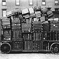 Luggage Cart At Train Station, 1910s by Hagley Archive