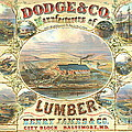 Lumber Company Ad 1880 by Padre Art